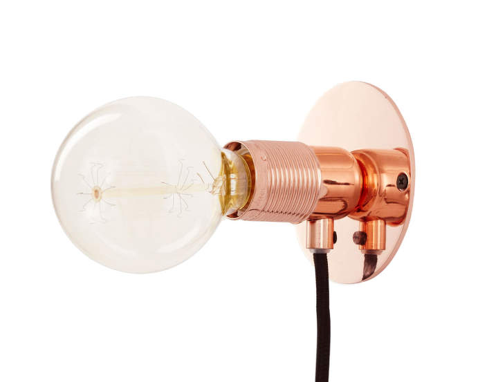 E27 Wall Light, Copper
