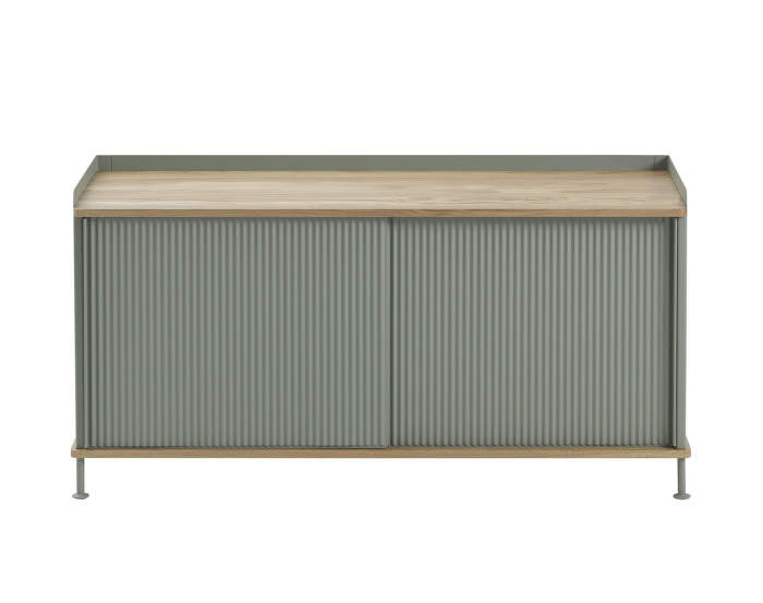 Komoda Enfold Sideboard Low, oak/dusty green