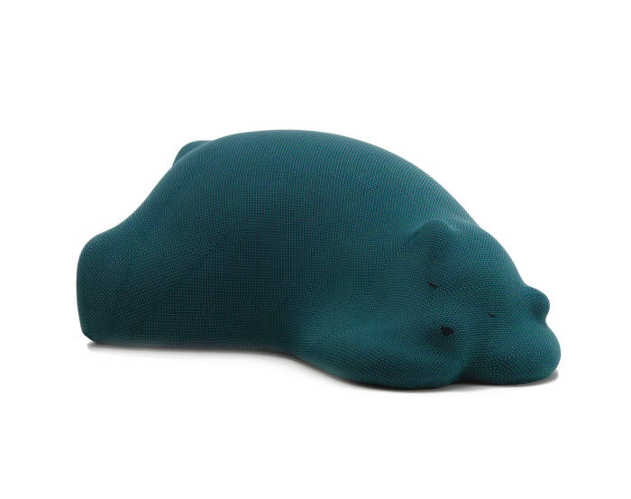 Resting Bear, turquoise