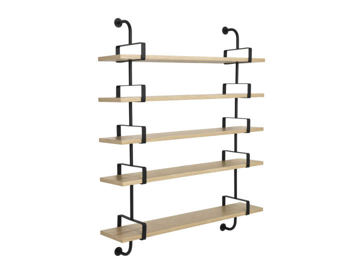 Police Démon Shelf 2, 155cm, 5 shelves, oak