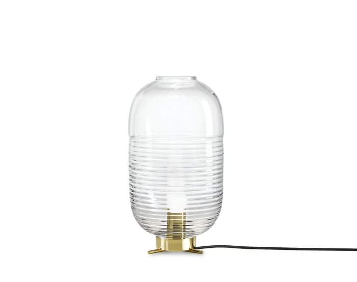 Stolná lampa Lantern, clear/polished brass