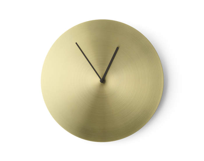 Norm Wall Clock, Brass