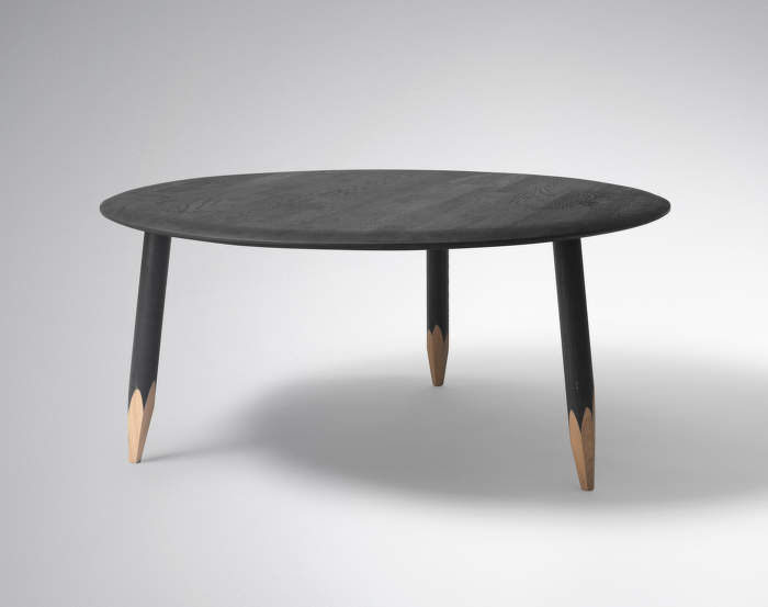 Hoof Lounge Table - černý