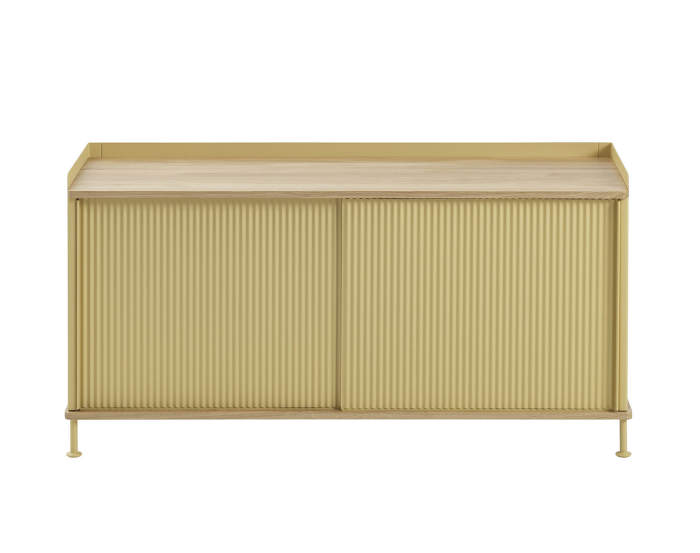 Komoda Enfold Sideboard Low, oak/sand yellow