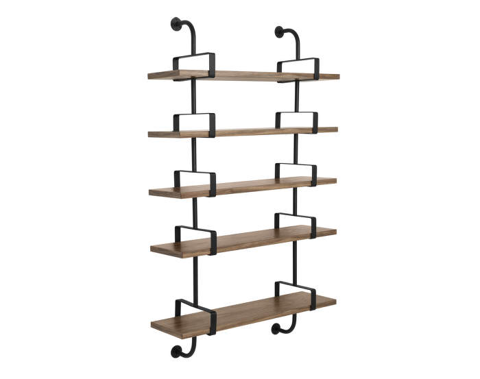 Police Démon Shelf 2, 95cm, 5 shelves, walnut