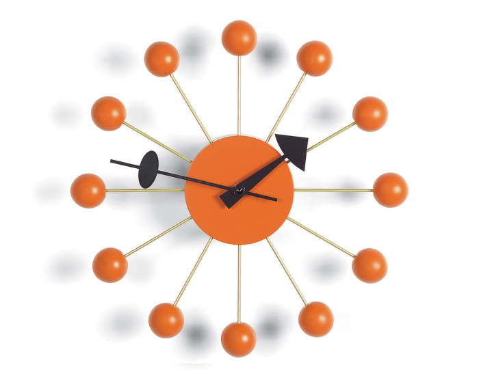 Hodiny Vitra Ball Clock, orange