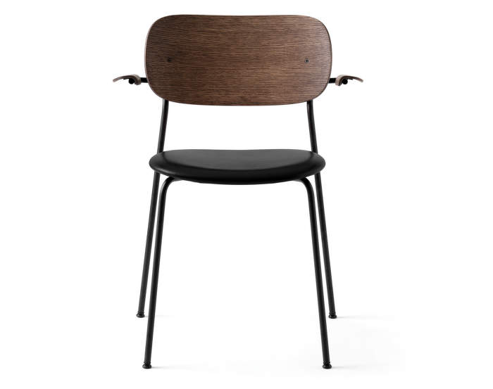 Stolička Co Chair s podpierkami rúk dark oak, Dakar 0842