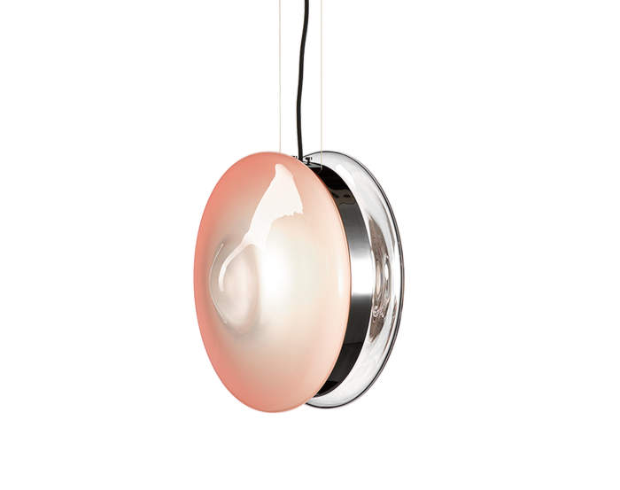 lampa Orbital, pink/polished nickel