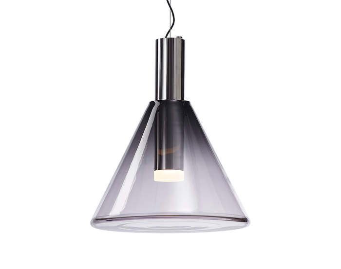 Lampa Phenomena, smoke grey/silver