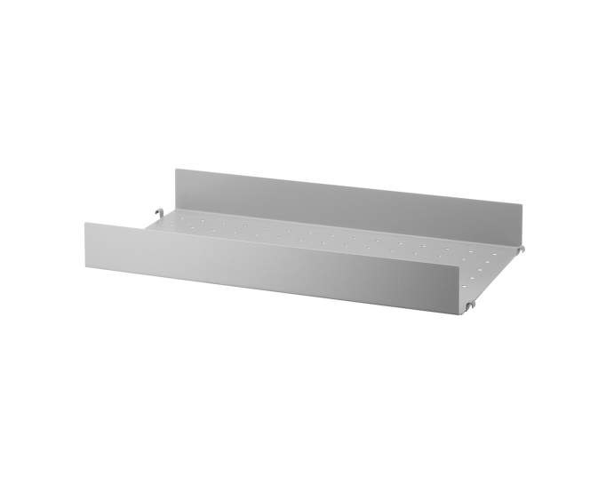 Police String Metal Shelf High Edge 58 x 30, grey