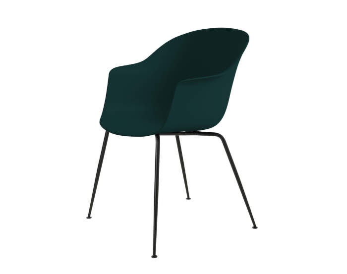 Bat Dining Chair, nečalúnená, dark green