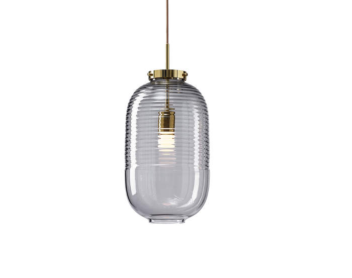 Lampa Lantern, smoke/polished brass