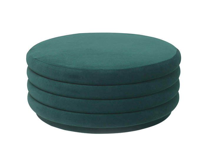 Pouf Round large, dark green