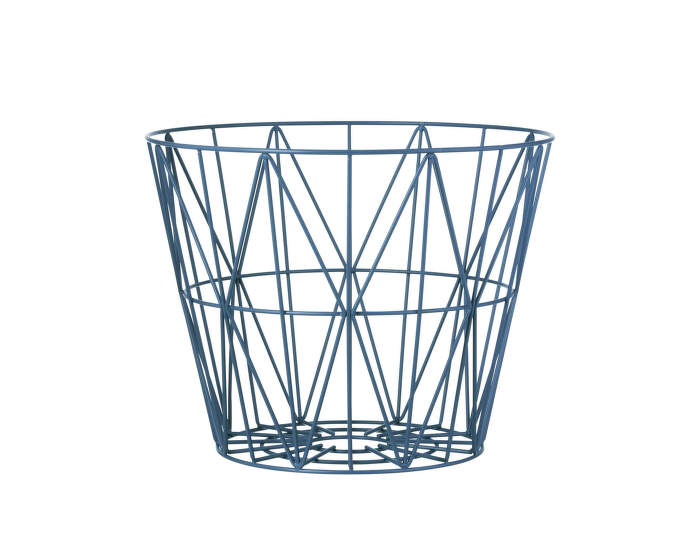 Wire Basket Medium, Petrol