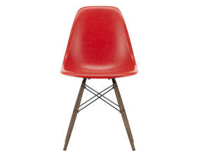 Stolička Eames Fiberglass DSW, red/dark maple