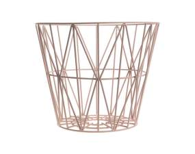 Kôš Wire Basket large, rose