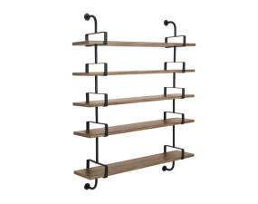 Police Démon Shelf 2, 155cm, 5 shelves, walnut