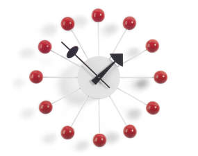Hodiny Vitra Ball Clock, red