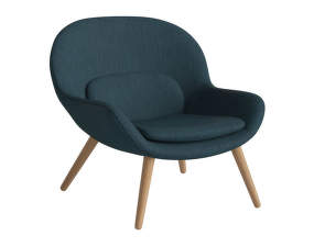 Kreslo Philippa Armchair, Baize - Fabric, Dust Blue, Oiled Oak