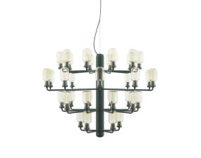 Luster Amp Chandelier Large, gold/green