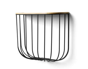 Polica FUWL Cage Shelf, black / dark ash