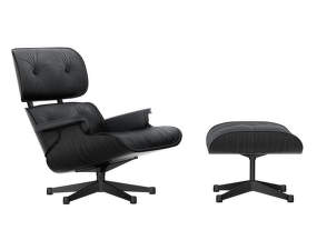 Eames Lounge Chair & Ottoman, black ash