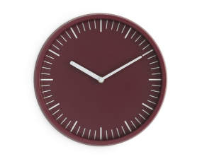 Hodiny Day Wall Clock, dark red