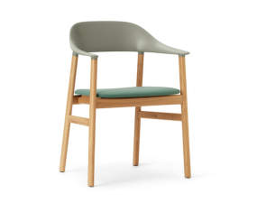 Stolička Herit Armchair Oak čalouněná, dusty green