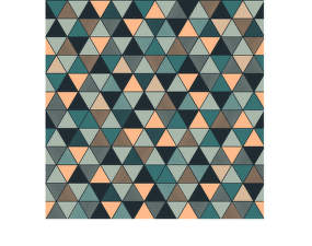 Tapeta Triangular, blue/green