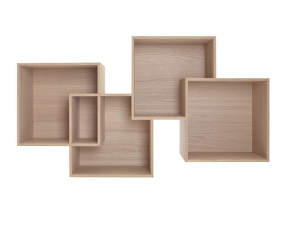 Polica Quadro, White Oiled Oak
