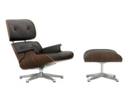 Eames Lounge Chair & Ottoman, black pigmented walnut