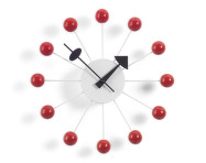 Hodiny Ball Clock, red