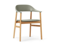 Stolička Herit Armchair Oak Leather, dusty green