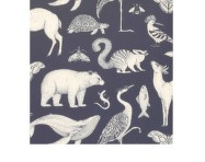 Tapeta Katie Scott Animals, dark blue