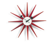 Hodiny Sunburst Clock, red