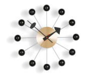 Hodiny Ball Clock, black/brass